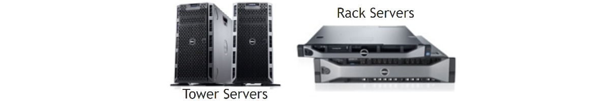 Tower and Rack servers from Dell Computer